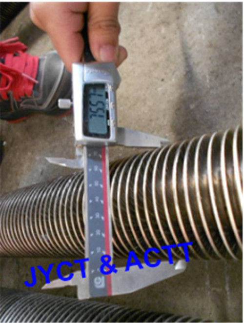 SA213 T22 Spiral Carbon Steel Fin Tube With U Bend For Marine Boiler / Economizer
